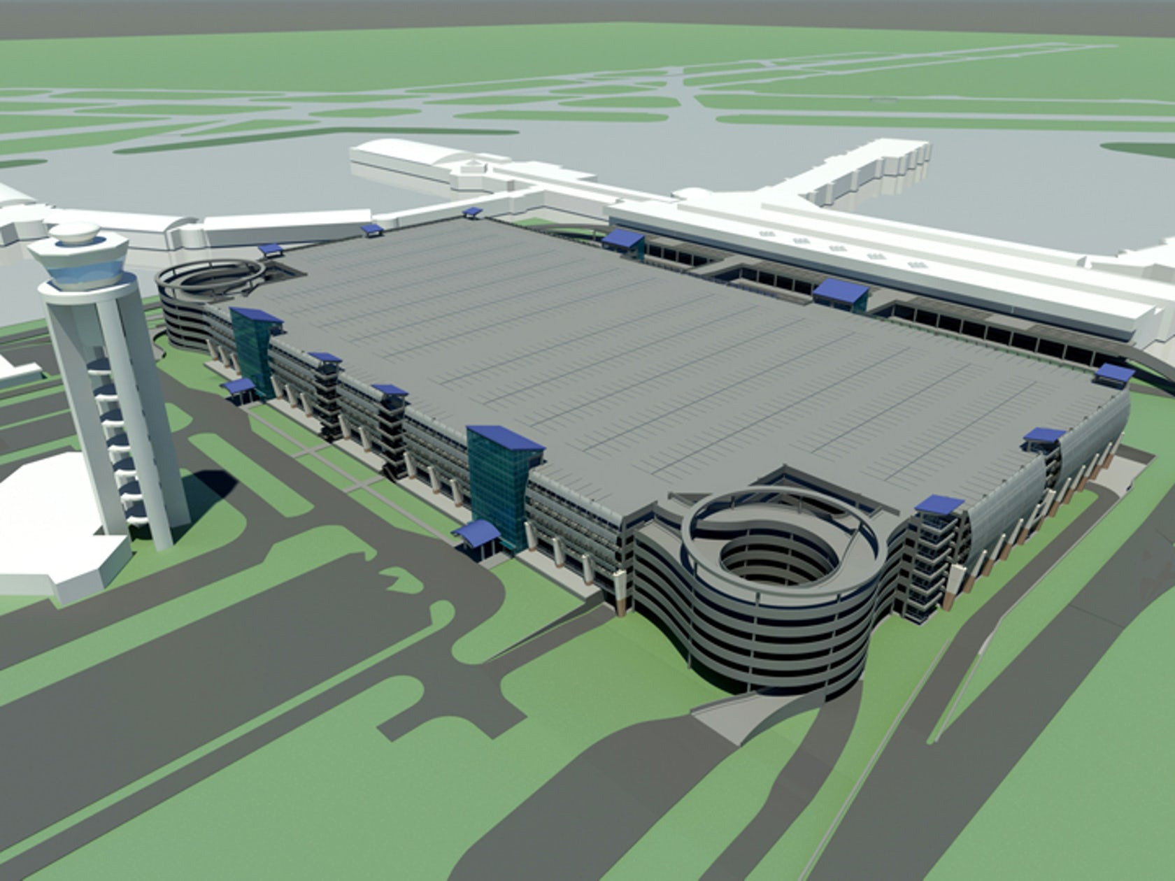 Cdia Rental Car Facility And Hourly Parking Deck Architizer