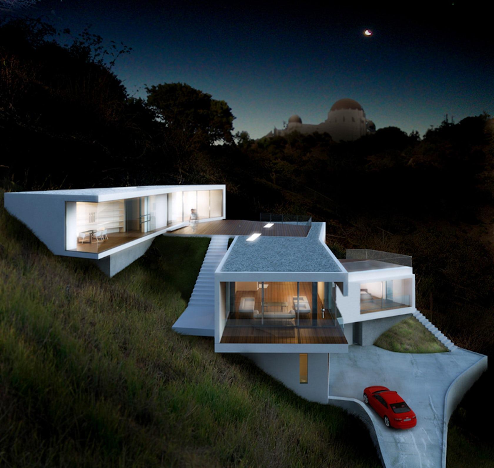Modern Slope House Design: Los Angeles Hillside Modern