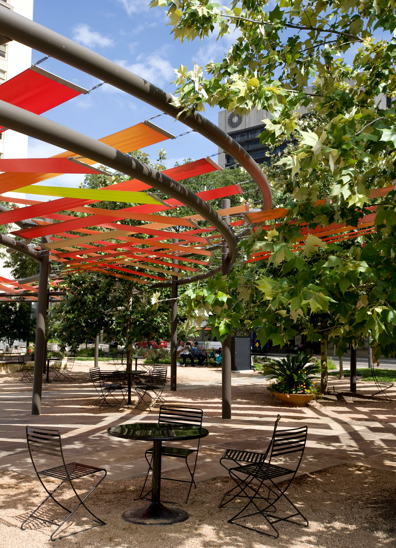 Main Plaza Shade Structures Architizer
