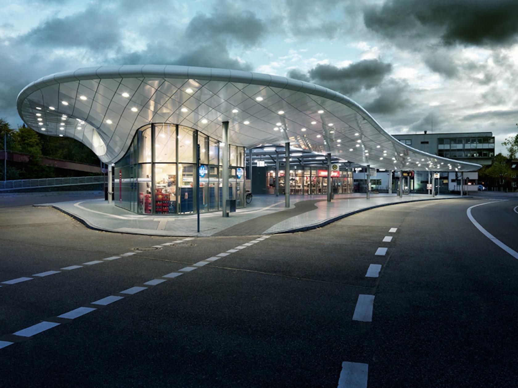 bus station hamburg architizer. Black Bedroom Furniture Sets. Home Design Ideas